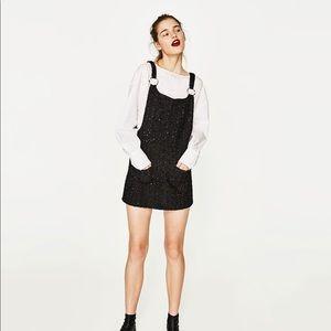 Zara - SHINY PINAFORE DRESS, size XS